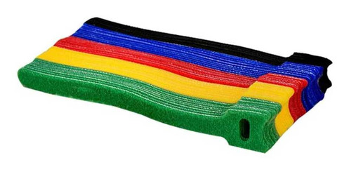 Imagem 1 de 5 de Kit Organizador Cabos Fios Eletrônicos Velcro Abraçadeira