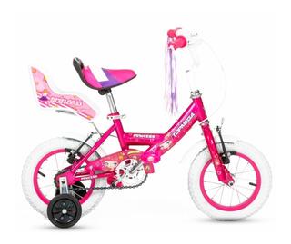 Bicicleta Para Chicos Nenas Rodado 12 Con Rueditas Top Mega