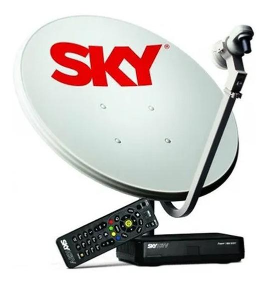 Kit Sky Conforto Hd Antena Ku 60 Cm + Receptor + Cabos