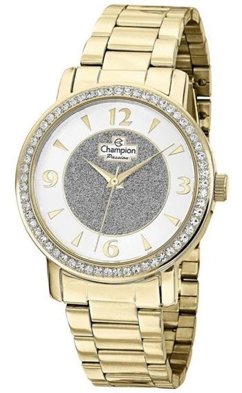 Relógio Champion Feminino Dourado Analógico Ch24599h