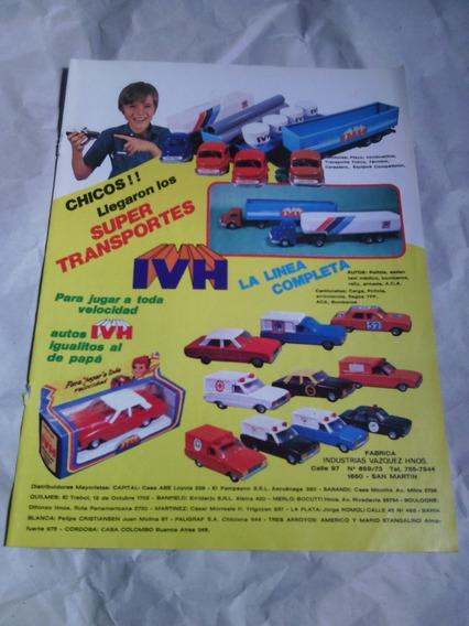 Antigua Publicidad Autos Autitos De Juguete Ivh