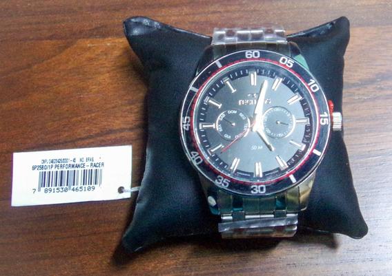 Relógio Technos Skymaster 6p25bo/1p Masc Aço Resist A Água