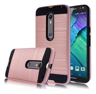 Moto X Pure Edition Funda Kmall Metal Brushed Texture Res...