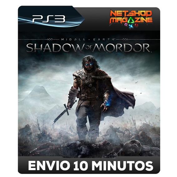 Middle-earth Shadow Of Mordor - Psn Ps3 - Envio Imediato