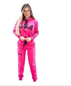 39eb47c93 Conjunto Moleton Feminino - Moletom Femininas Rosa chiclete no ...