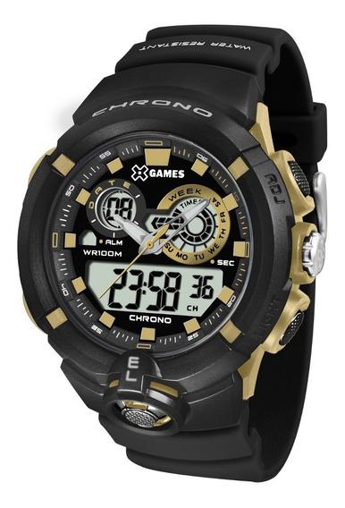 Relógio X-games Masculino Anadigi Xmppa240 Bxpx Dourado