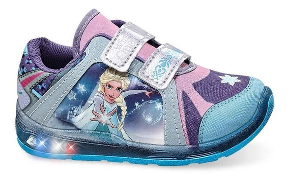 Tenis Niña Frozen C/luces 182740 Tallas 14/18 Ps-oi19