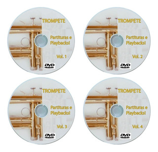 4dvds 1500 Playbacks + 1500 Partituras +extras Para Trompete