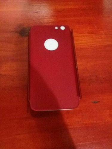 Funda Protectora iPhone 6 6s Metálica Roja