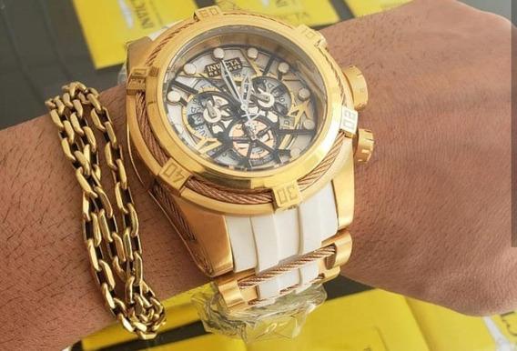 Relógio Masculino Promoção Lançamento Esquelet Grande Pesado