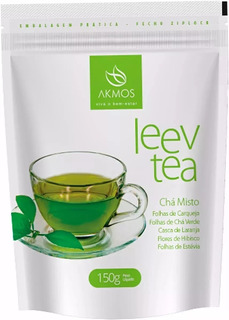 Kit 5 Leev Tea Akmos 150g Cha Misto Emagrece Original