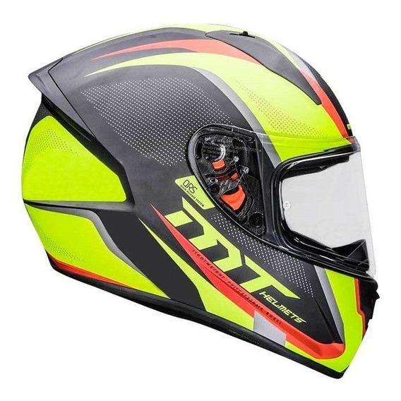 Capacete Mt Helmets Stinger Spike Matt Blue Yellow
