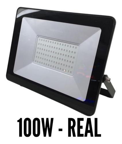 Refletor Led 100w Smd Prova D´água Ip66 Holofote 6500k Azul