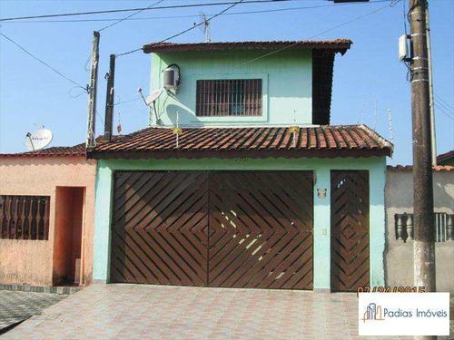 Sobrado Com 4 Dorms, Balneário Itaóca, Mongaguá - R$ 330 Mil, Cod: 21208 - V21208