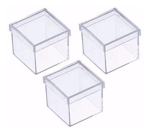 Caixinha Em Acrílico 5x5 (70 Unidades ) Caixa Lembrancinhas