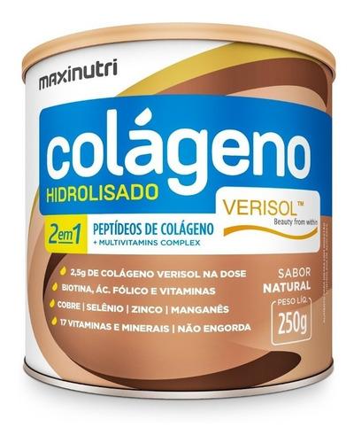 Imagem 1 de 2 de Colágeno Hidrolisado Verisol® 2em1 Antirrugas 250g Maxinutri