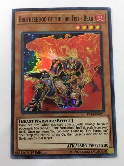 YUGIOH Brotherhood of the Fire Fist Bear CT10-EN008 Super x3