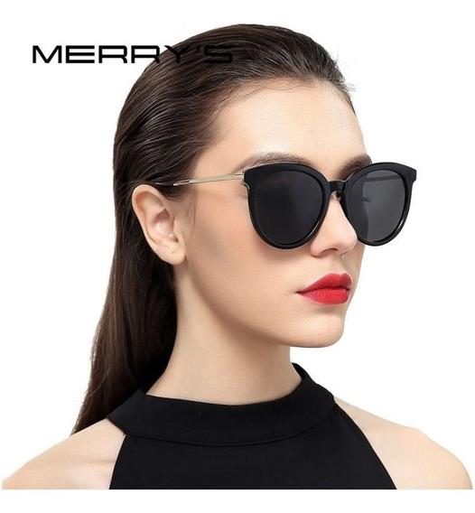 Óculos De Sol Feminino Clássico Polarizado Merry