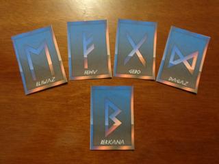 Runas Vikingas Red&blue 25 Cartas+manual En Español