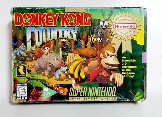 Donkey Kong Country Snes Original Americano Completo