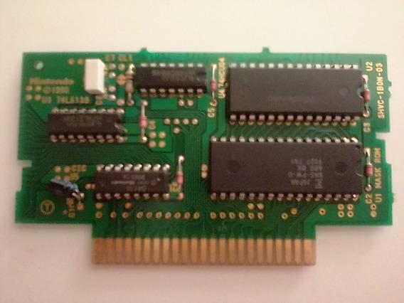 Placa Chip Do Cartucho Pilotwings Super Nintendo Sem Carcaça