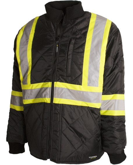 Terra 116505bkl High Visibility Quilted And Lined Reflective
