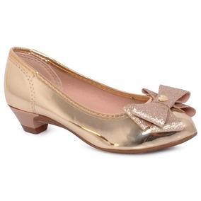 Sapato Infantil Molekinha 2166118 Dourado
