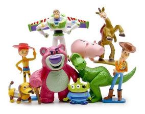 Coleção 9 Bonecos Miniaturas - Toy Story 3 - Woody E Buzz