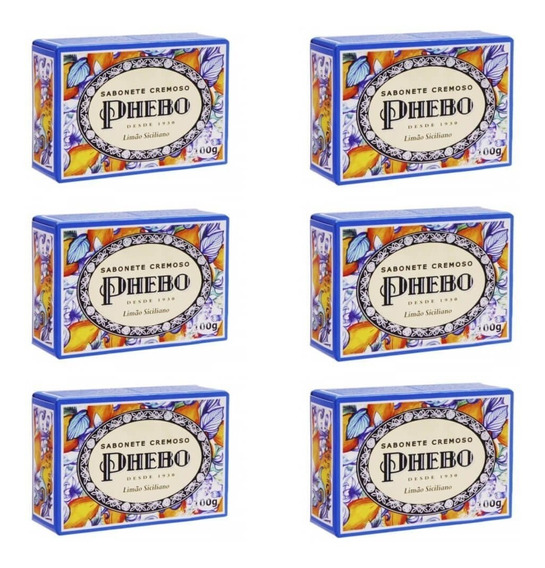 Phebo Limão Siciliano Sabonete 100g (kit C/06)