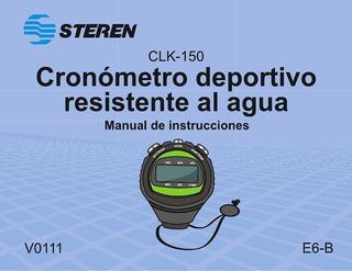 Cronómetro Deportivo Steren Resistente Al Agua Envio Gratis
