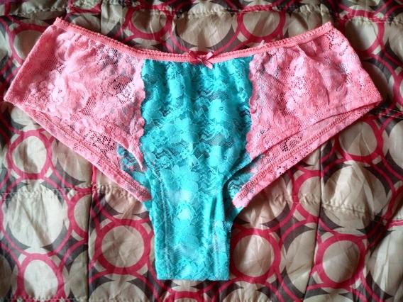 Pantaleta,bikini, Tipo Boxer Cachetero Transparente T-gde