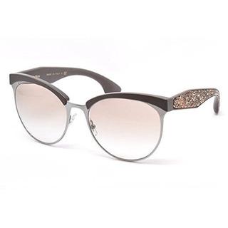Miu Miu Mu54qs Tfd1l0 Gunmetal Stardust Cats Eyes Sunglasses