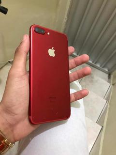 Celular iPhone 7 Plus Red 32 Gigas , Com Todos Os Acessórios