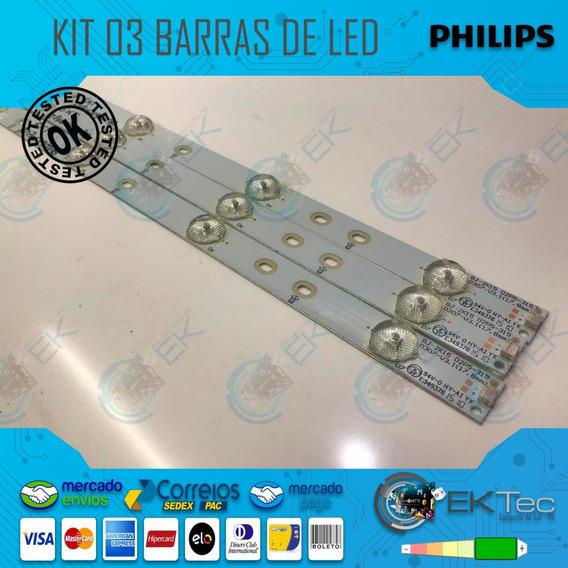 Kit 03 Barras De Led Tv Philips 32phg4900/78 Aoc Le32d1352