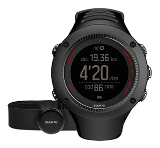 Reloj Suunto Ambit3 Run Black Hr, Gps, Con Banda Cardiaca