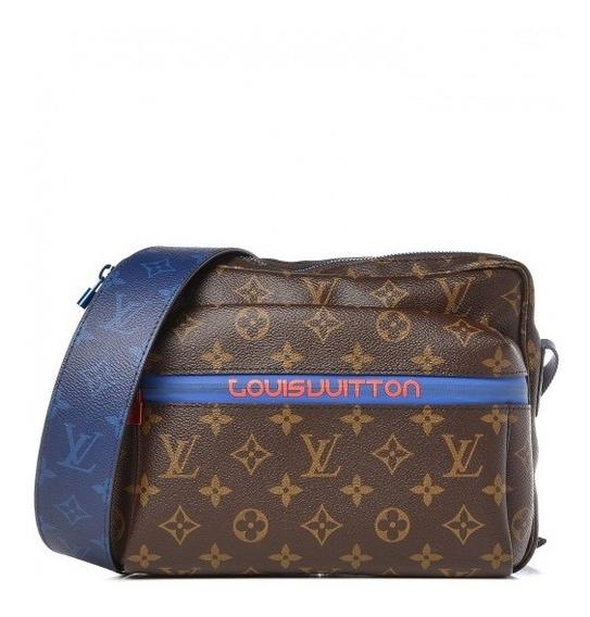 Outdoor Messenger Monogram Couro Legítimo Premium Top Louis Vuitton C/ Código Série Acompanha Alça E Dust Bag 24 Hr