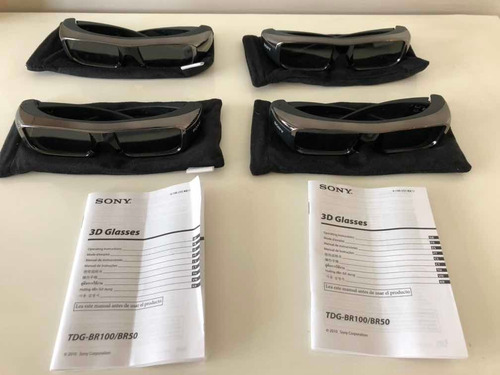 Kit Com 4 Óculos 3d Sony - Tdg Br100