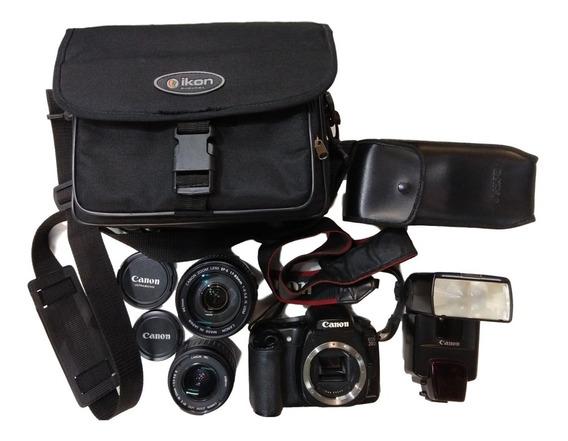 Camera Canon Eos 20d + Flash + Lente 18-55 Lente 17-85 Case