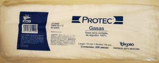 Gasas, Marca Protec 10×10 Cm, No Esteriles.