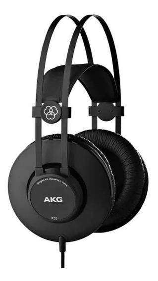 Fone Akg K52 Over Ear Headphone Original Harman