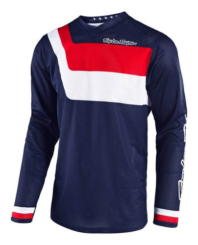 Remera Cross Troy Lee Gp Air Prisma Navy