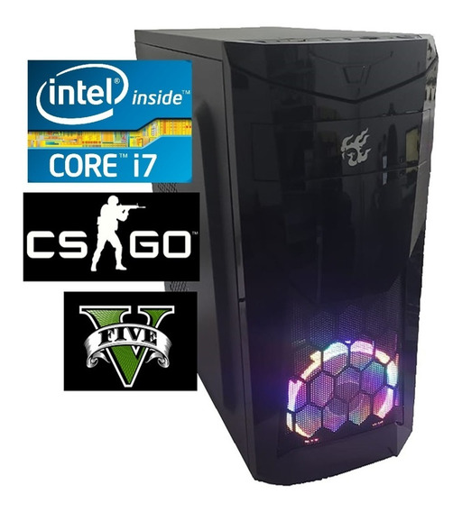 Pc Cpu Gamer Intel Core I7 3.8ghz 8gb Ram Ssd 240gb