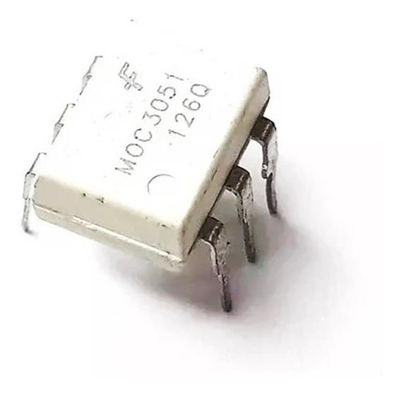 Ci Moc3051 Optoacoplador De Saida Triac E Scr 1 Canal 3051