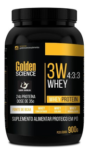 3w Whey Protein 4:3:3 - 900g - Golden Science Proteína
