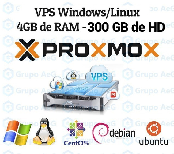 Servidor Vps Xeon 3.4ghz 4gb Ram 300gb Hdd Windows Ou Linux