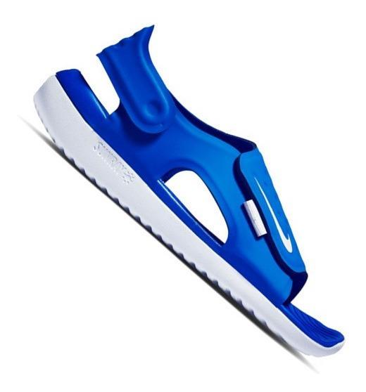 Sandália Nike Infantil Sunray Adjust Azul Menino Aj9076400