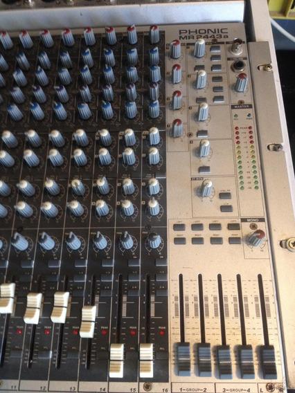Mesa De Som 16 Canais Phonic Mod 2443