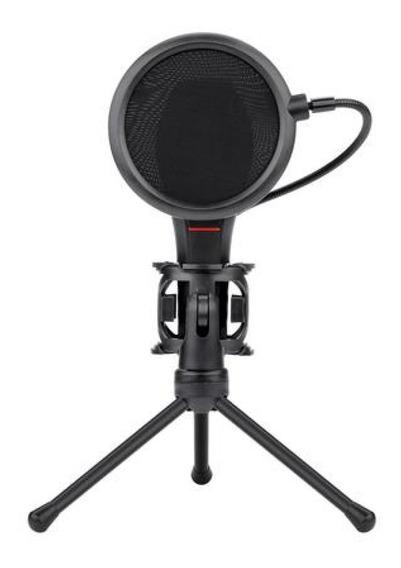 Microfone Gamer Streamer Redragon Quasar C/ Tripé Gm200
