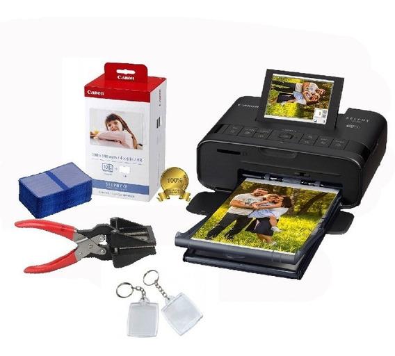 Kit Impressora Canon Cp1300 + 108 Fotos +cortador +chaveiros