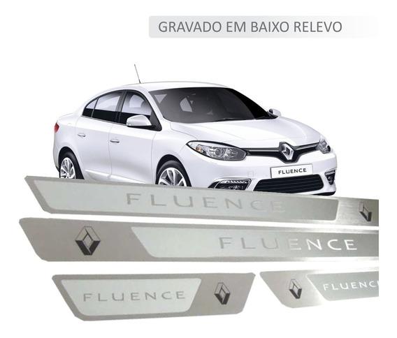Soleira Aço Inox Premium Renault Fluence Alto Padrão